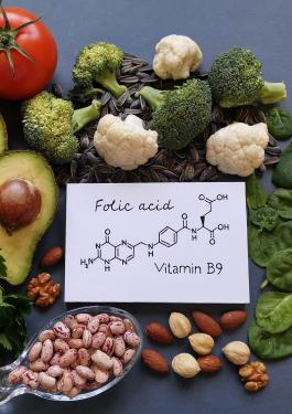 Chemistry structure folic acid